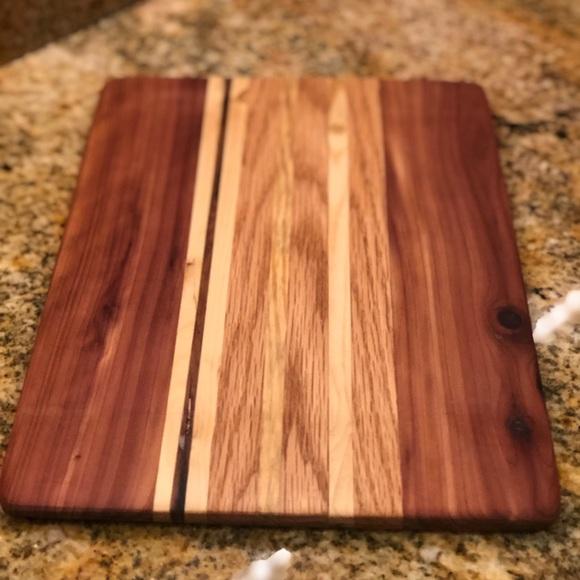 Cutting Board, Cedar/Hickory/Walnut NWT
